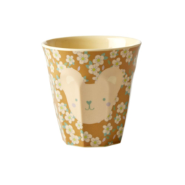 Rice Melamine Kids Cup with Teddy Print - Small