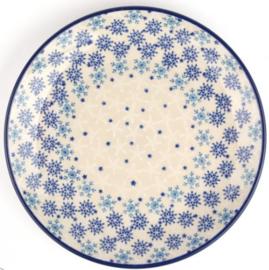 Bunzlau Plate Ø 25,5 cm Christmas Stars