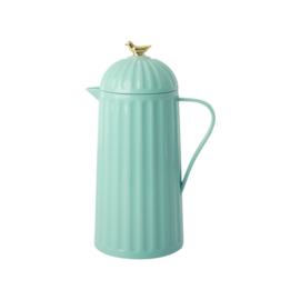 Rice Thermo with Gold Bird on Lid - Dark Mint - 1 liter