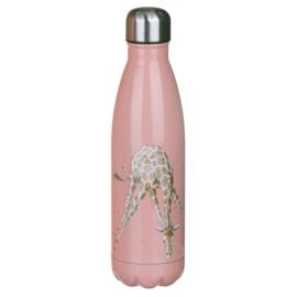 Wrendale Designs 'Flowers' giraffe Water Bottle 500 ml
