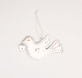 Sass & Belle Christmas Decoration Heart Dove