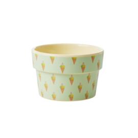 Rice Melamine Ice Cream Cup with Ice Cream Print