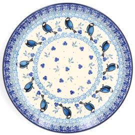 Bunzlau Plate Ø 25,5 cm Blue Bird -Limited Edition-
