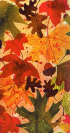 IHR Buffet Napkin Autumn Leaves