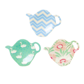 Rice Melamine Tea Bag Plate in 3 Assorted SHINE Prints