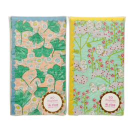 Rice 20 Paper Lunch Napkins in 2 assorted Prints
