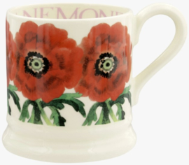 Emma Bridgewater Red Anemone 1/2 Pint Mug