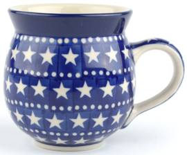 Bunzlau Farmers Mug 300 ml Blue Stars