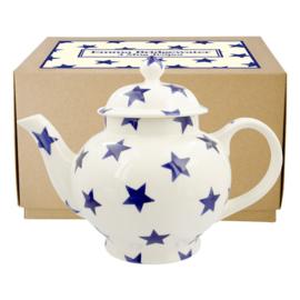 Emma Bridgewater Blue Star 4 Mug Teapot