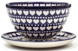 Bunzlau Berry Bowl Small  Blue Valentine