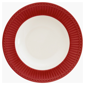 GreenGate Deep Plate Alice Red -pastabord / soepbord-