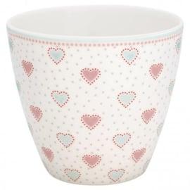GreenGate Latte Cup Penny white -stoneware-
