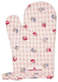 GreenGate Child Grill Glove Viola check pale pink