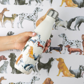Chilly's Drink Bottle 500 ml Emma Bridgewater Dogs -mat met reliëf-