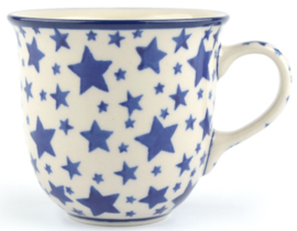 Bunzlau Tulip Mug 200 ml White Stars