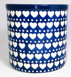 Bunzlau Flowerpot - Kitchen Utensil Pot Blue Valentine