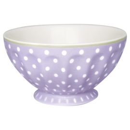 GreenGate French Bowl Extra Large Spot Lavender -stoneware-