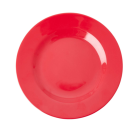 Rice Melamine Side Plate in Red Kiss