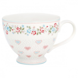 GreenGate Teacup Sonia white -stoneware-