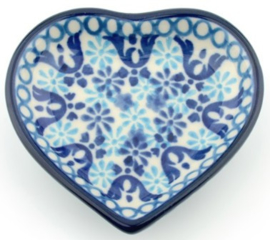 Bunzlau Heart Shape Teabag Dish Nautique