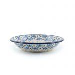 Bunzlau Plate Deep 21 cm Blue White Love