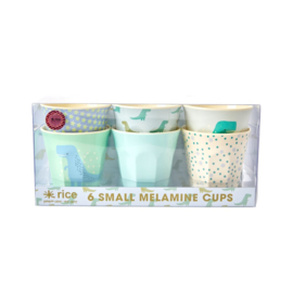 Rice Small Melamine Cup - Assorted Dino Prints - 6 pcs.