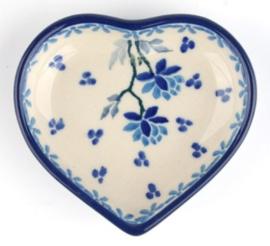 Bunzlau Heart Shape Teabag Dish Daydream