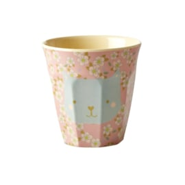 Rice Melamine Kids Cup with Cat Print - Small