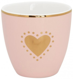 GreenGate Mini latte cup Penny gold -stoneware-