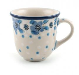 Bunzlau Tulip Mug Espresso 70 ml Blue White Love