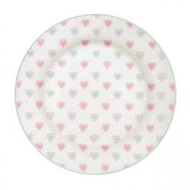 GreenGate Plate Penny white -stoneware-