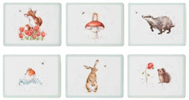 Wrendale Designs Set of 6 The Bee Placemats -small size-