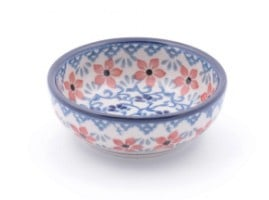 Bunzlau Serving Bowl 9 cm Red Violets H: 3 cm, Ø:  9 cm