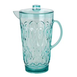 Rice Acrylic Jug with Swirly Embossed Detail Mint - Large