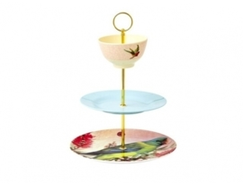 Rice 3 Tier Do It Yourself Cake Stand Rod in Gold -borden niet inbegrepen-