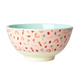Rice Medium Melamine Bowl - You go Girl Print