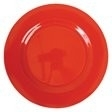 Rice Melamine Round Side Plate in Red