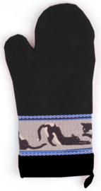 Bunzlau Oven Glove Cats Black