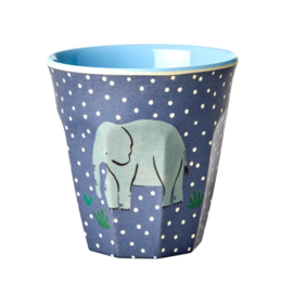 Rice Medium Melamine Cup with Elephant Print