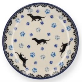 Bunzlau Teabag Dish Ø 10 cm Dog -Limited Edition-