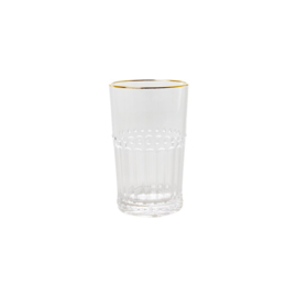 Rice Acrylic Tumbler with Gold Edge - 430 ml - Clear