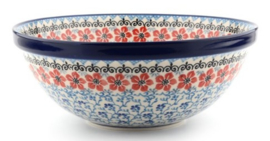 Bunzlau Bowl Large 28 cm Red Violets