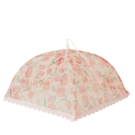 Rice Foldable Food Cover with Peaches - 35 x 35 x 35 cm