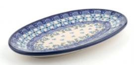 Bunzlau Oval Cookie Dish Vine