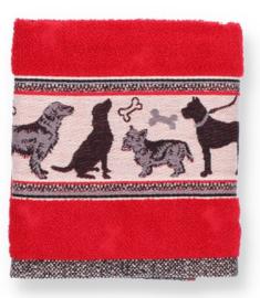 Bunzlau Kitchen Towel Dog Red