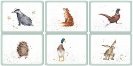 Wrendale Designs Set of 6 Placemats -small size-