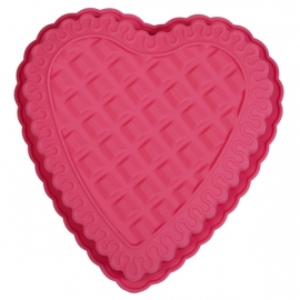 Rice Heart Shaped Silicone Baking Mold in Pink