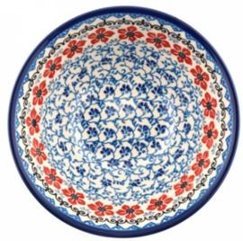 Bunzlau Bowl 19,5 cm Red Violets