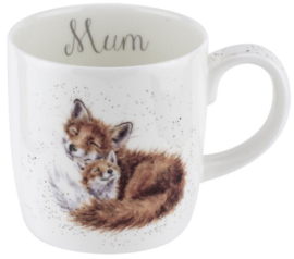 Wrendale Designs Large 'Mum' Mug -Foxes-