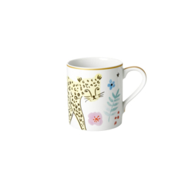 Rice Straight Porcelain Mug - Wild Leopard Print - 350 ml - Special Edition